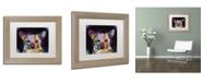 """Trademark Global Dean Russo 'Cheemix' Matted Framed Art - 14"""" x 11"""" x 0.5"""""""