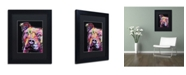 """Trademark Global Dean Russo 'Thoughtful Pit Bull' Matted Framed Art - 11"""" x 14"""" x 0.5"""""""