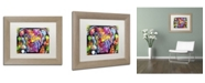 """Trademark Global Dean Russo 'The Brooklyn Pit Bull' Matted Framed Art - 14"""" x 11"""" x 0.5"""""""