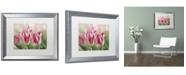"Trademark Global Cora Niele 'Rembrandt Silver Standard Tulip' Matted Framed Art - 20"" x 16"" x 0.5"""