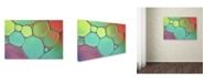 "Trademark Global Cora Niele 'Stained Glass III' Canvas Art - 47"" x 30"" x 2"""