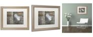 "Trademark Global Cora Niele 'Feather on Wood II' Matted Framed Art - 20"" x 16"" x 0.5"""