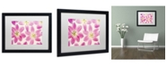 "Trademark Global Cora Niele 'Cerise Pink Tulips' Matted Framed Art - 16"" x 20"" x 0.5"""