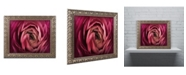 """Trademark Global Cora Niele 'Glowing Ruby Red Ranunculus' Ornate Framed Art - 14"""" x 11"""" x 0.5"""""""