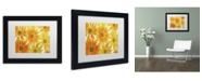 "Trademark Global Cora Niele 'Orange Daisies' Matted Framed Art - 11"" x 14"" x 0.5"""