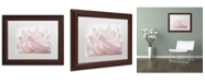 "Trademark Global Cora Niele 'Pink Peony Petals V' Matted Framed Art - 14"" x 11"" x 0.5"""