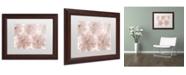 "Trademark Global Cora Niele 'Prunus Blossom' Matted Framed Art - 14"" x 11"" x 0.5"""