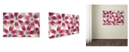 """Trademark Global Cora Niele 'Ruby Red and White Tulips' Canvas Art - 24"""" x 16"""" x 2"""""""