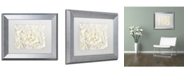 "Trademark Global Cora Niele 'White Peony Flower' Matted Framed Art - 14"" x 11"" x 0.5"""