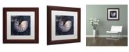"Trademark Global Color Bakery 'Maritime Blues V' Matted Framed Art - 11"" x 0.5"" x 11"""