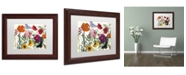 "Trademark Global Color Bakery 'Printemps I' Matted Framed Art - 14"" x 0.5"" x 11"""