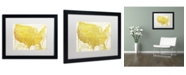 "Trademark Global Color Bakery 'American Dream II' Matted Framed Art - 20"" x 16"" x 0.5"""
