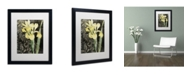 """Trademark Global Color Bakery 'Ode To Yellow' Matted Framed Art - 16"""" x 20"""" x 0.5"""""""