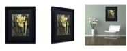 "Trademark Global Color Bakery 'Ode to Yellow Flowers' Matted Framed Art - 11"" x 14"" x 0.5"""