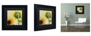 "Trademark Global Color Bakery 'Soleil II' Matted Framed Art - 11"" x 11"" x 0.5"""