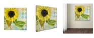 "Trademark Global Color Bakery 'Soleil III' Canvas Art - 18"" x 2"" x 18"""