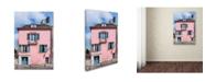 "Trademark Global Cora Niele 'Renoir House' Canvas Art - 32"" x 22"" x 2"""