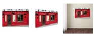 "Trademark Global Cora Niele 'Restaurant Chez Marie' Canvas Art - 32"" x 22"" x 2"""