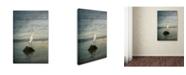 "Trademark Global Jai Johnson 'Great White Egret At Sunrise' Canvas Art - 19"" x 12"" x 2"""