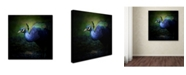 "Trademark Global Jai Johnson 'Peacock 1' Canvas Art - 18"" x 18"" x 2"""