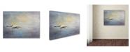 "Trademark Global Jai Johnson 'Silent Flight Great White Egret' Canvas Art - 32"" x 24"" x 2"""