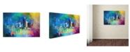 "Trademark Global Jai Johnson 'Sending Love To Austin' Canvas Art - 47"" x 30"" x 2"""