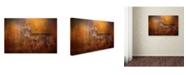 "Trademark Global Jai Johnson 'Big Buck In Autumn' Canvas Art - 32"" x 22"" x 2"""