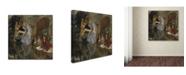 "Trademark Global Degas 'Portrait Of Mlle Fiocre' Canvas Art - 35"" x 35"" x 2"""