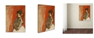 """Trademark Global Degas 'Ballet Dancer With Arms Crossed' Canvas Art - 47"""" x 35"""" x 2"""""""