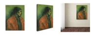 """Trademark Global Isidre Nonell 'Paloma' Canvas Art - 19"""" x 14"""" x 2"""""""