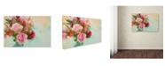 "Trademark Global Cora Niele 'Rose Bouquet' Canvas Art - 47"" x 30"" x 2"""