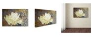 "Trademark Global Cora Niele 'Classic Double White Tulip I' Canvas Art - 19"" x 12"" x 2"""