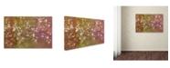 "Trademark Global Cora Niele 'Floral Flurry Bronze' Canvas Art - 32"" x 22"" x 2"""