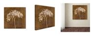 "Trademark Global Cora Niele 'Hortensia Silhouette Bronze' Canvas Art - 18"" x 18"" x 2"""