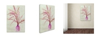 "Trademark Global Cora Niele 'Pink Broom In Glass' Canvas Art - 24"" x 16"" x 2"""