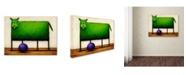 "Trademark Global Daniel Patrick Kessler 'Green Trouble I' Canvas Art - 47"" x 35"" x 2"""