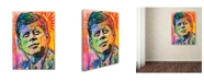 "Trademark Global Dean Russo 'JFK' Canvas Art - 24"" x 18"" x 2"""