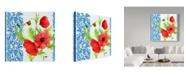"Trademark Global Irina Trzaskos Studio 'Summertime Poppies I' Canvas Art - 18"" x 18"" x 2"""