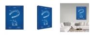 "Trademark Innovations Cole Borders 'Horseshoe' Canvas Art - 32"" x 24"" x 2"""
