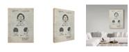 "Trademark Innovations Cole Borders 'Brave Heart Lion Care Bear Patent Art Print' Canvas Art - 32"" x 24"" x 2"""