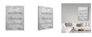 "Trademark Innovations Cole Borders 'Engineers Slide Rule' Canvas Art - 24"" x 18"" x 2"""