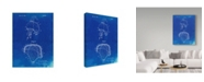 "Trademark Innovations Cole Borders 'Football Helmet Patent Wall Art' Canvas Art - 47"" x 35"" x 2"""