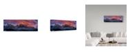 "Trademark Global Cristian Lee 'Bucegi Mountains' Canvas Art - 32"" x 10"" x 2"""