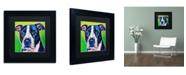 """Trademark Global DawgArt 'Sadie' Matted Framed Art - 11"""" x 11"""" x 0.5"""""""
