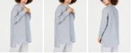 Eileen Fisher Organic Linen Mandarin-Collar Shirt, Regular & Petite