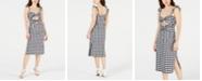 LEYDEN Cutout Gingham Midi Dress
