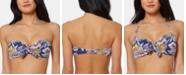 Jessica Simpson Floral-Print Tie Bandeau Bikini Top