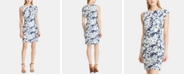 American Living Floral Ruffled Jersey Dress