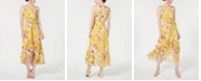 Vince Camuto High-Low Floral Flounce Maxi Dress