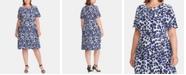 Lauren Ralph Lauren Plus Size Floral-Print Dress